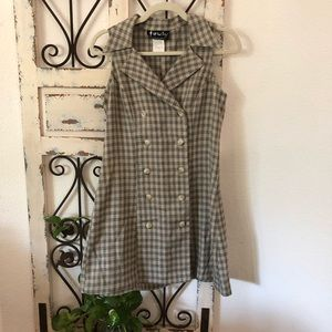 All that jazz vintage gingham button dress